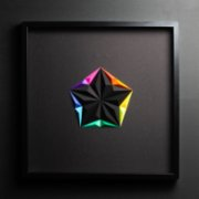 Paperpan	  Neon Star Artwork