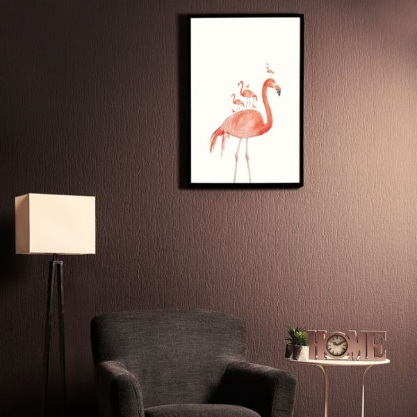 Action Zebra	 Flamingo Party Art Print