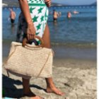 Mien İstanbul Knitted Rectangular Hand Bag with Bowtie