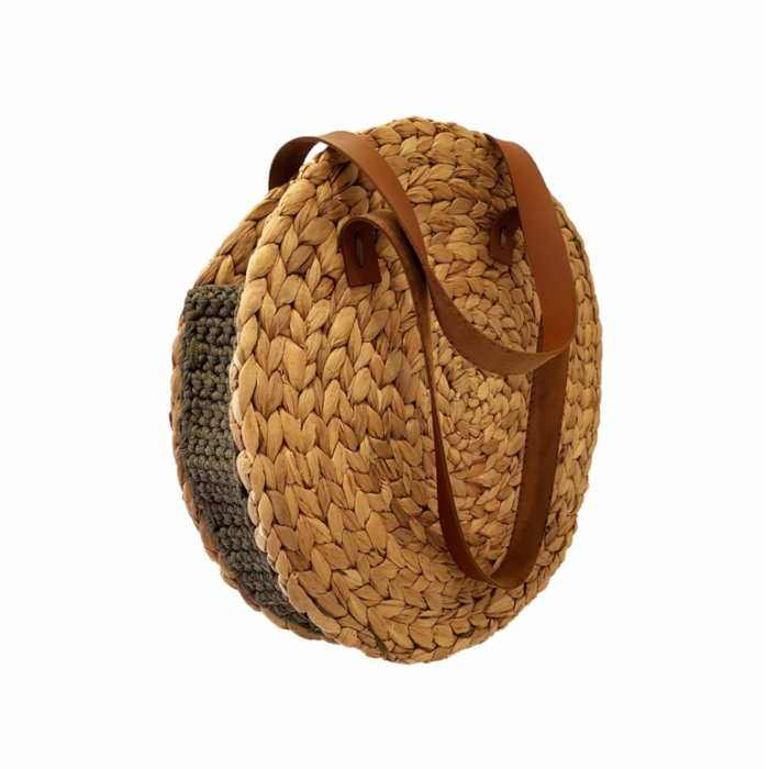Mien İstanbul Knitted Rattan Round Shoulder Bag I