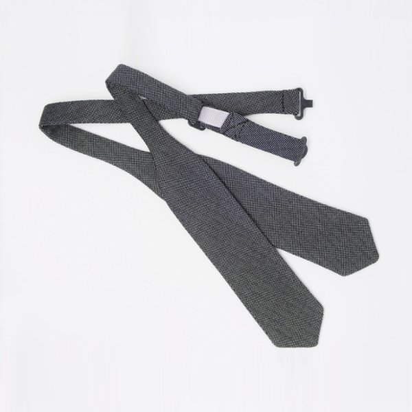 Moris Gloss Gray Diamond  Self Tie Bow Tie