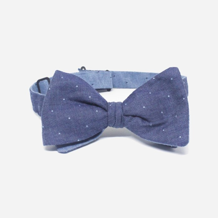 Moris Dots Butterfly Self Tie Bow Tie