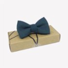Moris Blue Dots  Kids Bow Tie