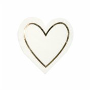Meri Meri  Pearl Heart Napkin Pack of 16