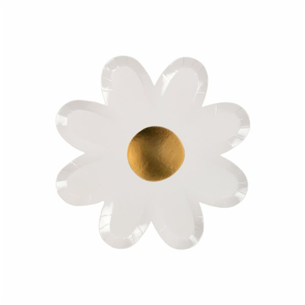 Meri Meri White Daisy Plates Pack of 8