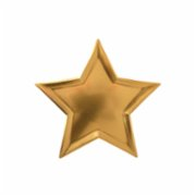 Meri Meri  Star Gold Foil Plates Pack of 8