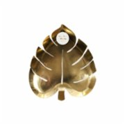 Meri Meri  Palm Leaf Gold Plate Pack of 8