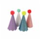 Meri Meri Party Hats With Pom Poms Pack of 8
