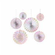 Meri Meri  Iridescent Pinwhells Pack of 6