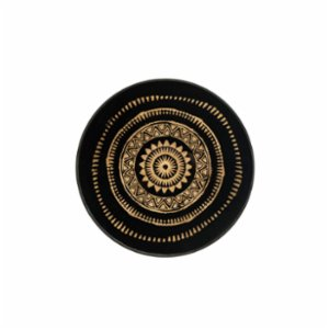 Warm Design	  Glass Round Wall Art