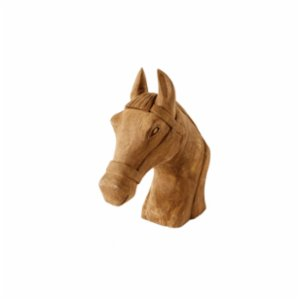 Warm Design	  Wood Horse Head Decoration