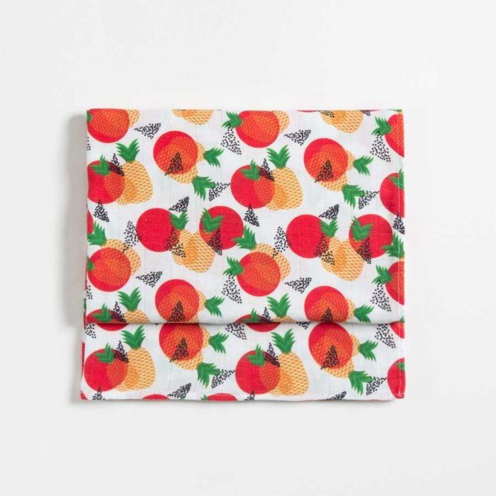 Baby Fou Pineapples Muslin Throw