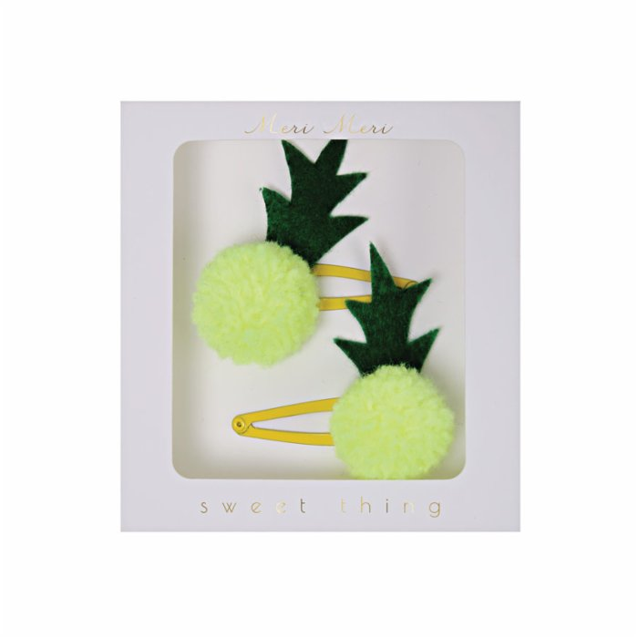 Meri Meri Pineapple Pom Pom Hairclips