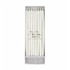 Meri Meri Silver Glitter Birthday Candles