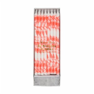 Meri Meri  Coral Marbled Candles