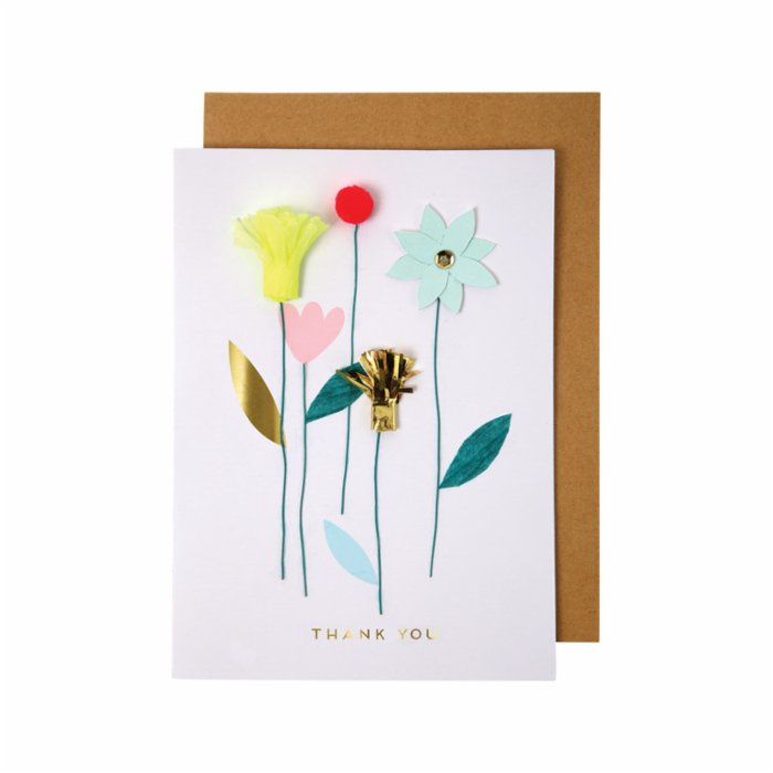 Meri Meri Thank You Flowers Card