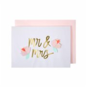 Meri Meri  Mr And Mrs With Flowers Card