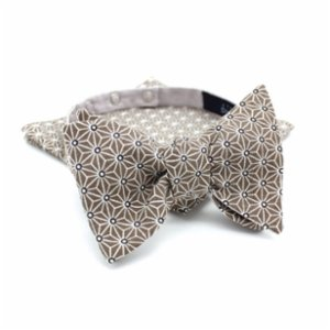 Atelier Dupont  Fuji Grey Slim Bow Tie&Pocket Square