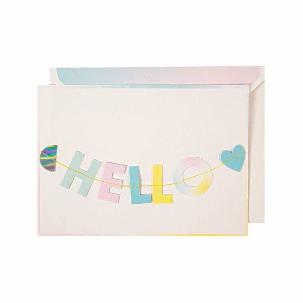 Meri Meri Hello Litlle One Garland Card