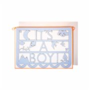 Meri Meri  It's A Boy Cut Out Garlnad Card