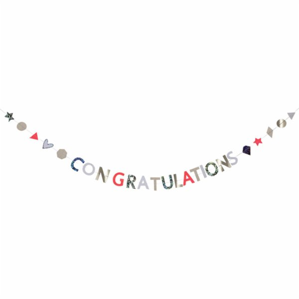 Meri Meri Congratulations Garland Card