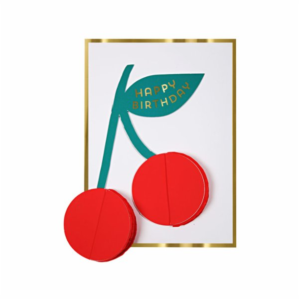 Meri Meri Cherries Honeycomb Card