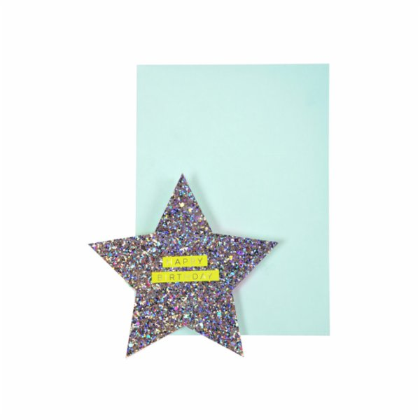 Meri Meri Star & Rainbow Card