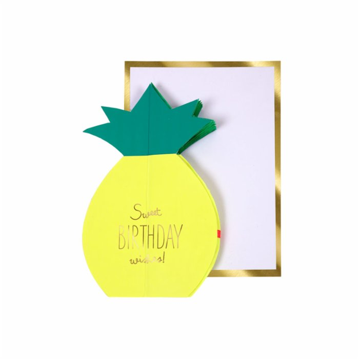 Meri Meri Pineapple Honeycomb Card