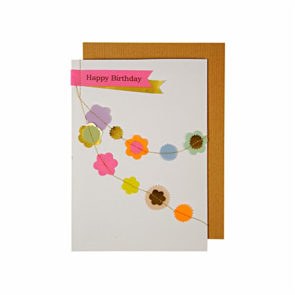Meri Meri Flower Garland Greeting Card