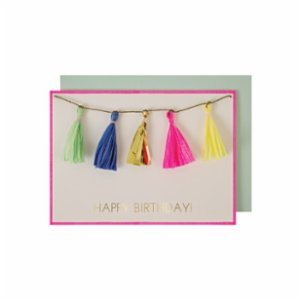 Meri Meri  Tassels Greeting Card