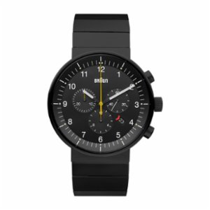 Braun  Prestige Chronograph Analog Display Swiss Quartz Black Watch