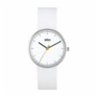 Braun Classic Stainless Steel Watch with Leather Band