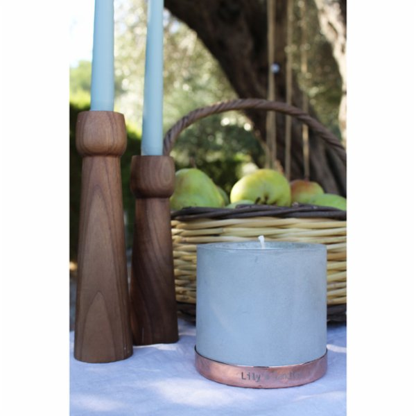Lily's Candles  Lavender Concrete Natural Candle