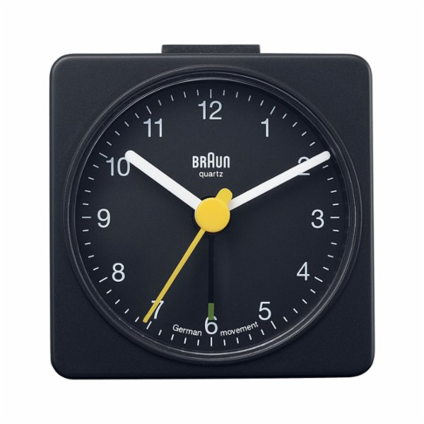 Braun Alarm Desk Square Clock Black