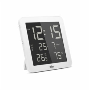 Braun  Temperature / Humidi Ty Quartz Wall Clock