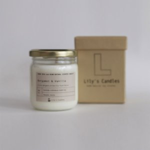 Lily's Candles   Bergamot & Vanilla Natural Candle