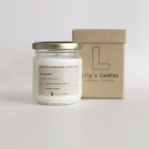Lily's Candles   Lavender Natural Candle