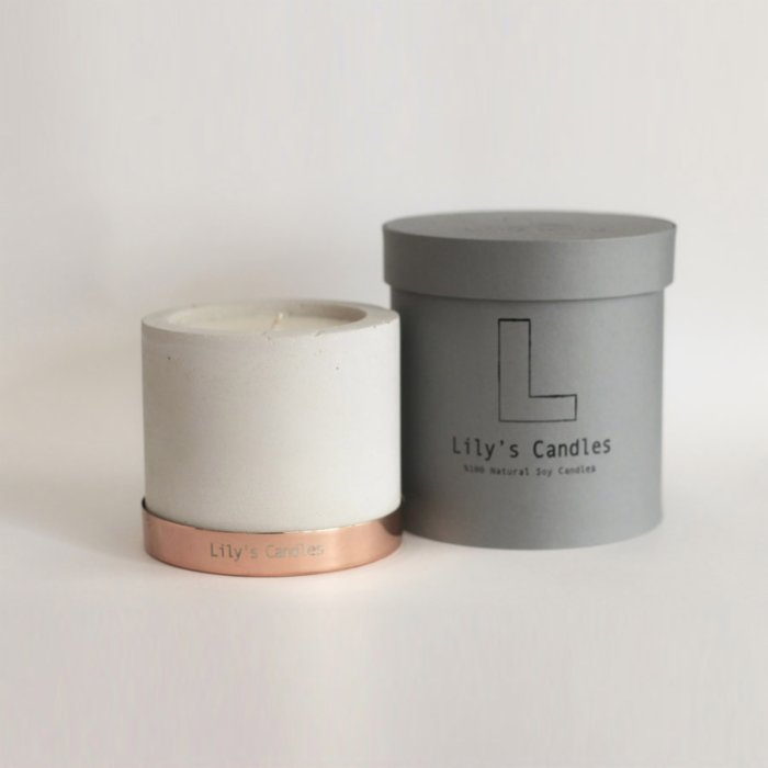 Lily's Candles  Bergamot & Lemon Concrete Natural Candle