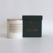 Lily's Candles   Sandalwood & Orange Marble Natural Candle