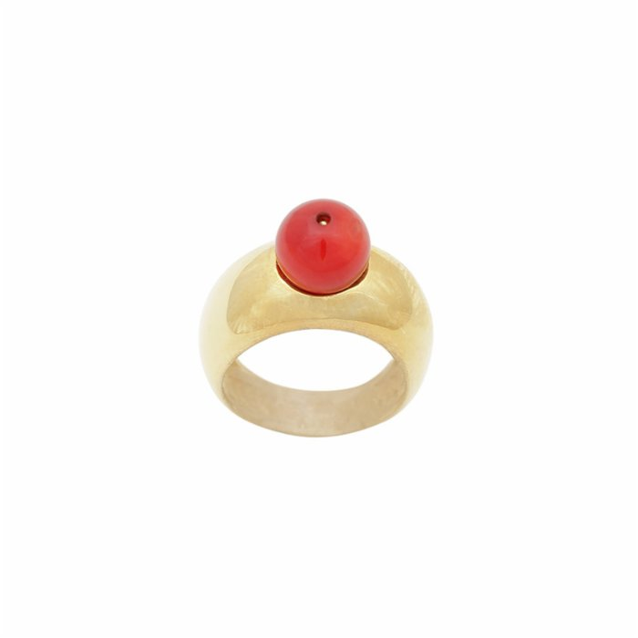 [Add]Tension Drop Ring - Coral