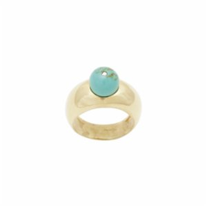 [Add]Tension  Drop Ring - Turquoise