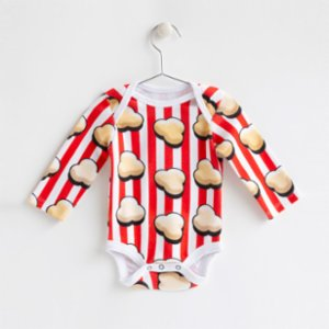Baby Fou  Popycorn Long Sleeve Body