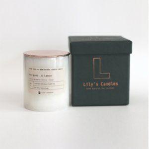 Lily's Candles   Bergamot & Lemon Marble Natural Candle