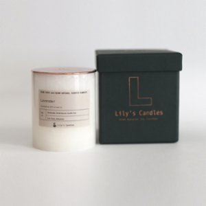 Lily's Candles   Lavender Marble Natural Candle