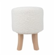 Table and Sofa  Paco Wood Pouf