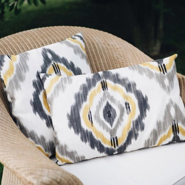 Table and Sofa Ikat Pillow