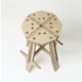 Tufetto The Mill Wooden Bar Stool