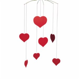 Flensted Mobiles  Valentine Happy Hearts Mobile