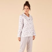 Night And Mild	  Cloudy Flannel PJ Set