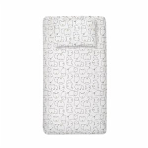 Lullalucca	  Organic Fitted Sheet & Pillowcase Set